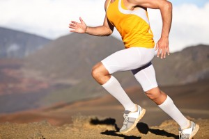 Runner with Compression Clothing